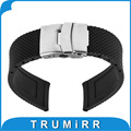 22mm Silicone Rubber Watch Band for Moto 360 2 Gen 46mm 2015 Samsung Gear 2 R380 R381 R382 Stainless Steel Buckle Strap Bracelet