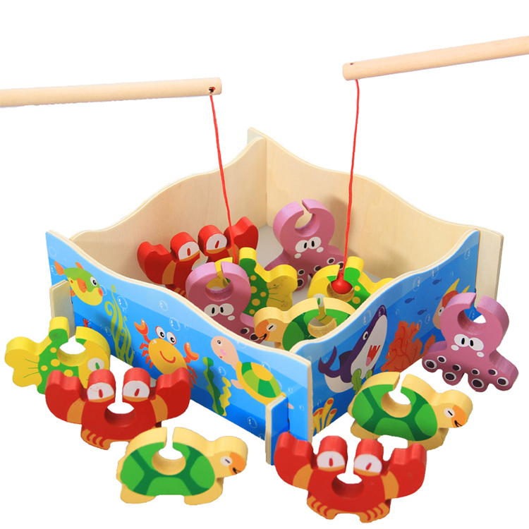 MamimamiHome Baby Toys Children Montessori Early Education Stereo Fishing Game Wooden Toy For Children Baby Gift Building Block wooden toys for children cactus building blocks assembling demolition wood baby toy education game new year s gift