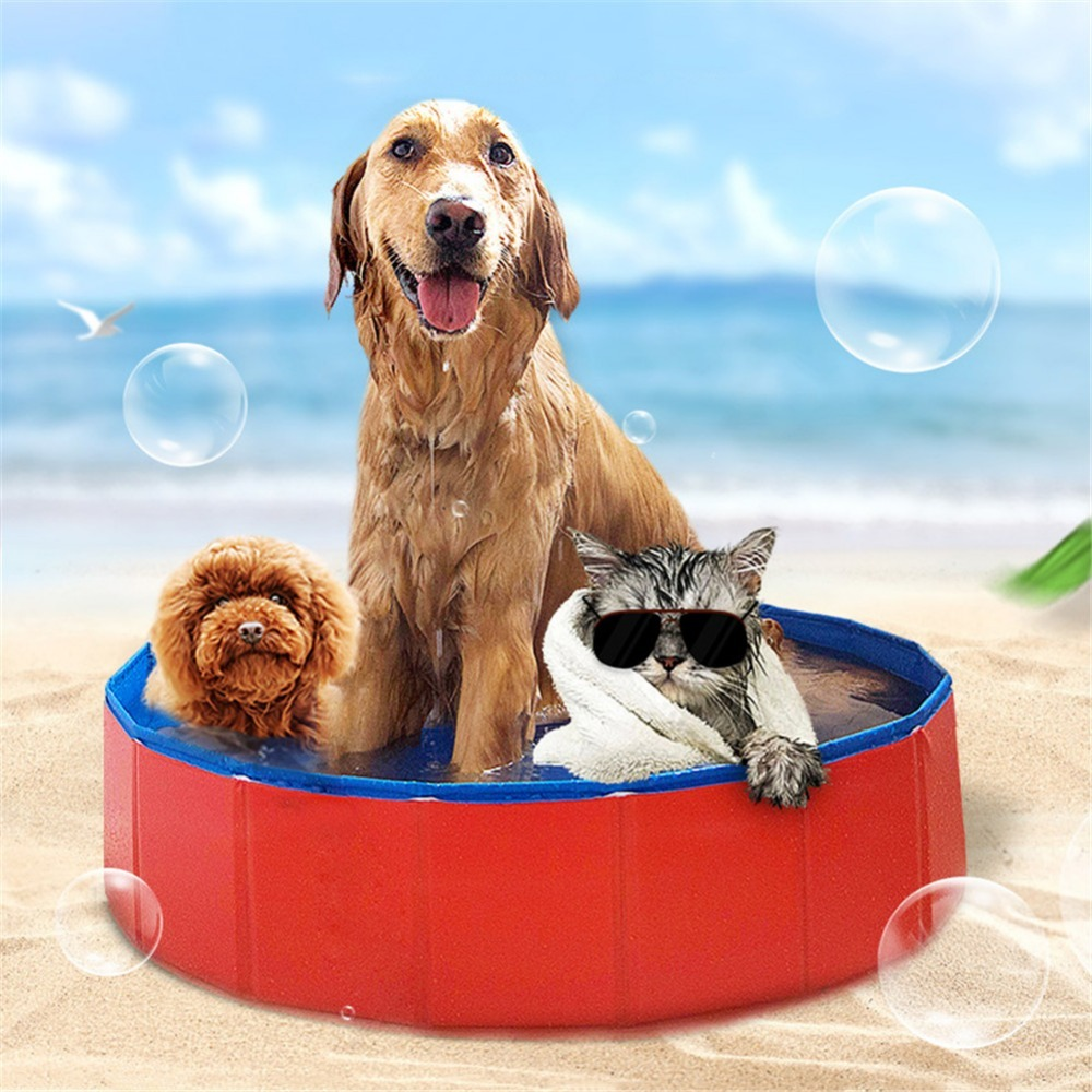 Pets PVC Washing Pond Dog Tub Bed Foldable Pet Play Swimming Pool Cats Dogs Bathing Bathtub Washer