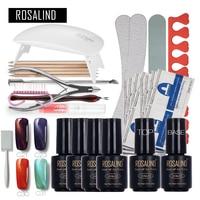 ROSALIND Magnet Cat Eyes Nail Art Tools Cure 6W UV Lamp Gel Polish Soak Off Base Coat Top Coat Nail Gel Manicure Kits Gel