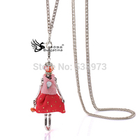 Winter Dress Doll Necklaces Silver Plated,Wholesale Necklaces Jewelry,Hot Sale Jewelry For Sale