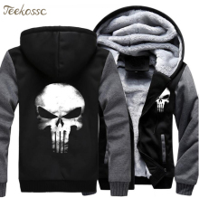 Skull Hoodies Men Swag Hooded Sweatshirt 2019 Winter Thick Warm Fleece Harajuku Hip Hop Streetwear Cool Punk Rock Jacket