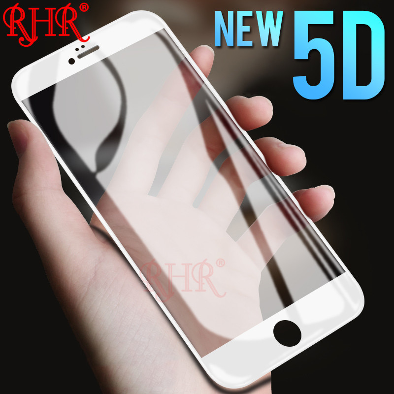 RHR 5D Protective Glass On The For iPhone 6 7 6S 8 Plus X Tempered Screen Protector Protective Glass For iPhone 6 S 8 Plus FilmRHR 5D Protective Glass On The For iPhone 6 7 6S 8 Plus X Tempered Screen Protector Protective Glass For iPhone 6 S 8 Plus Film