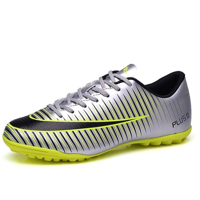 chuteira futebol chuteiras futsal Homens Sapatos De Futsal Shoes Quadra  Dura Esporte Trainer Tênis de futsal 87e55058580ce