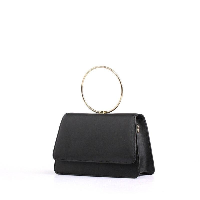 все цены на  2017New genuine leather Women Handbag Cowhide  Ladies small Flap Bags Simple Style fashion Lady mini Shoulder Bag Crossbody bag  в интернете