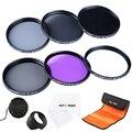 K&F CONCEPT 62mm UV CPL FLD ND2 ND4 ND8 Lens Filter for Tamron /for SIGMA DSLR Cameras Lens + Petal Lens Hood + Filter Bag Pouch