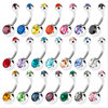 Piercing Navel Surgical Steel Single Crystal Rhinestone Belly Button Rings Navel Piercing Ombligo 5/8mm Ball Nombril