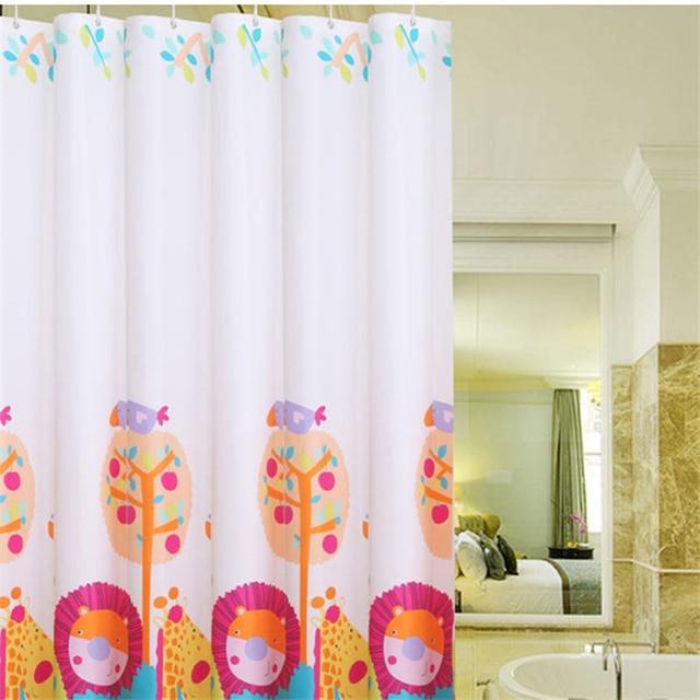 High end fashion cartoon shower curtains children \'s room curtains ...