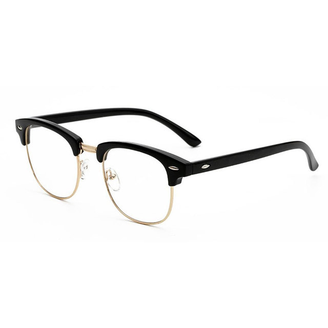 d4fb29acc9f Retro Eye Glasses Frame Brand Designer Fashion Women Half Frame Eyeglasses  Vintage Men Optical Frame Oculos