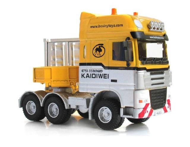 2016 el tardío unique juguetes, coleccionables 1:50 de aleación modelo de camión pesado telescópica camión camión contenedor