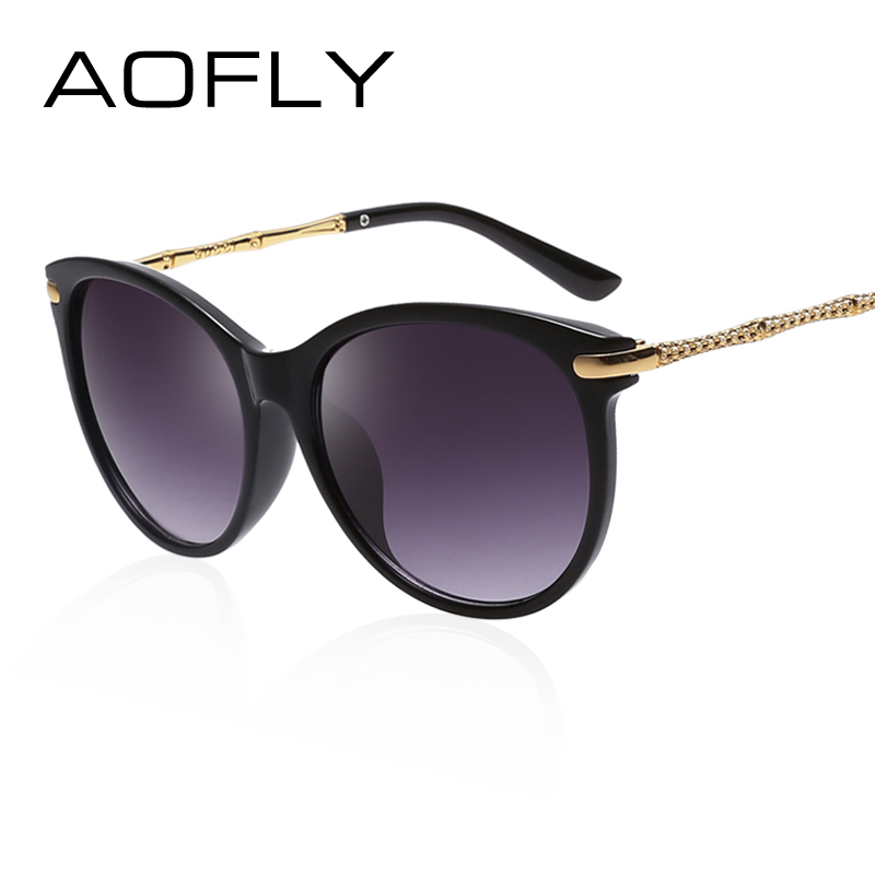 0c60626a866 AOFLY Luxury Brand Women Oval Sunglasses Eyeglass Vintage Sun glasses for  Women Gradient Color Shades Oculo de sol feminino-in Sunglasses from Women s  ...