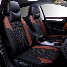 2017 New 6D Car Seat Cover,Senior Leather,,Sport Styling,Car-Styling, Universal CushionFor Sedan SUV