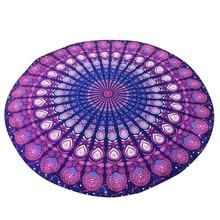 Bohemian 150 cm frauen indische persische gedruckt runde chiffon schal tapisserie retro wand hängen handtuch yoga strandmatte t20 0,5