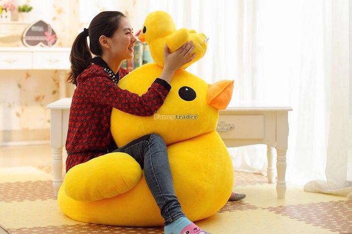 Fancytrader Super Huge 39\'\' 100cm Giant Plush Stuffed Yellow Rubber Duck, free shipping FT90122 (4).jpg