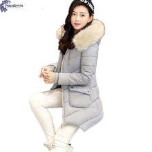 Tnlnzhyn 2017 новая зимняя женская clothing хлопка пальто с капюшоном меховым воротником сгущает с длинными рукавами большой размер женщин верхняя одежда tt107