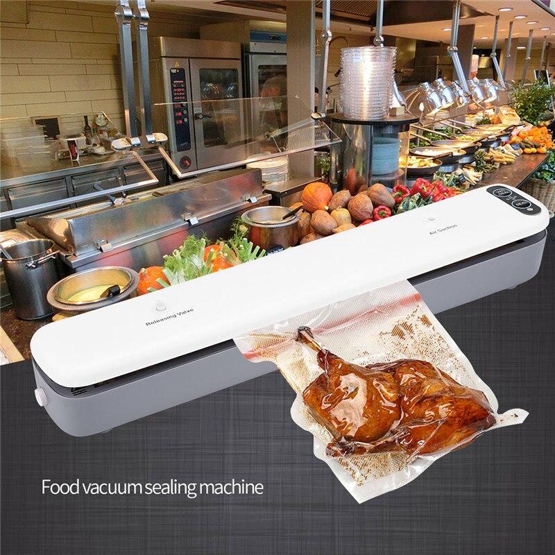 120V Food Vacuum Sealer Household Vacuum Sealing Machine Vacuum Bags Film Sealer Vacuums Packer Sealer Packaging Machine
