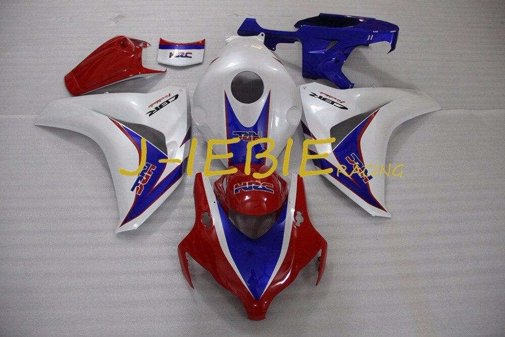 Red White blue Injection Fairing Body Work Frame Kit for HONDA CBR1000RR CBR 1000 CBR1000 RR 2008 2009 2010 2011