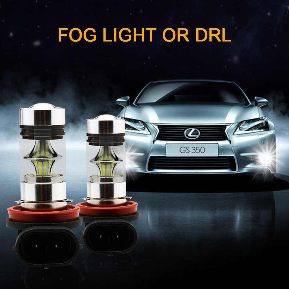 2pcs H11 H8 LED Fog Light Bulbs 9005 HB3 HB4 9006 Car Daytime Running Lights Auto DRL Driving Lamp 12V 24V 6000K White