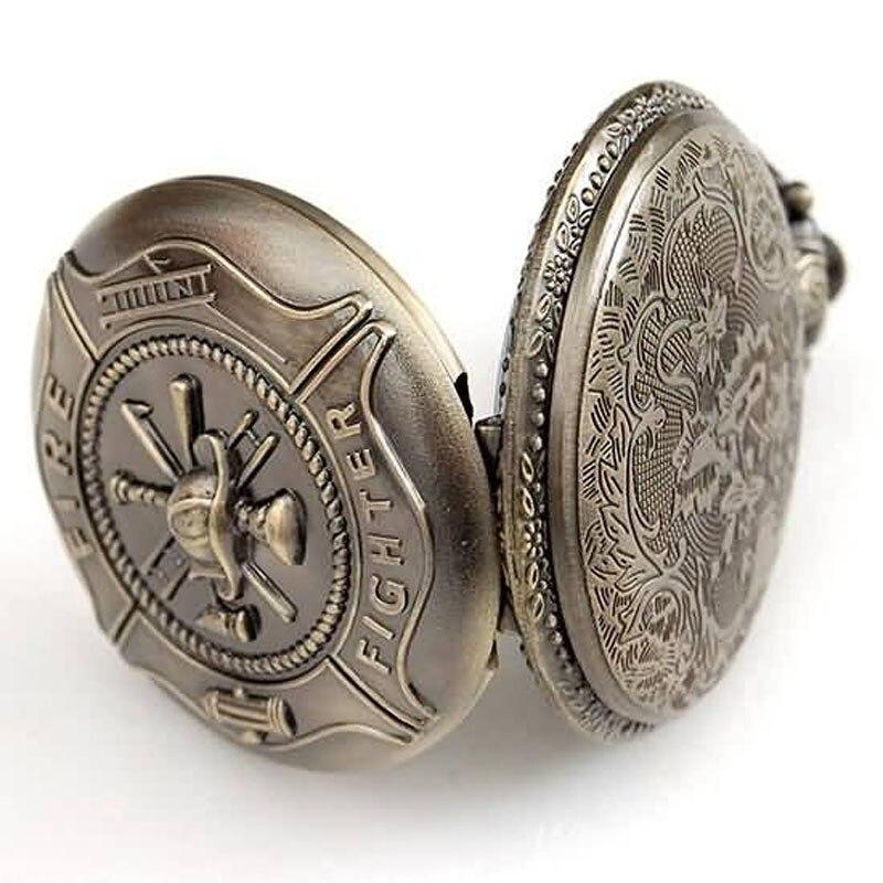 d5a1c422c30 Cadeias de Bombeiro Lutador Relógio de Bolso Antigo relógio de Quartzo dos  homens por atacado freeship em Relógios de bolso   Fob de Relógios no ...