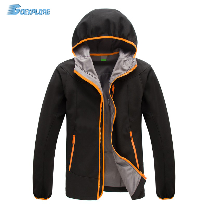 ФОТО Dropshipping outdoor Waterproof Hiking hunting clothes military outerwear jackets coats windstopper softshell jacket for mens