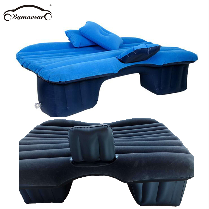 Inflatable car mattress outdoor camping inflatable bed PVC flocking Multifunctional Car inflatable bed car accessories in Car Travel Bed from Automobiles Motorcycles