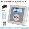 GSM домашняя сигнализация  домашняя сигнализация  безопасность  SOS охранная сигнализация  панель для ухода за пожилыми людьми K4 с PIR датчиком ...