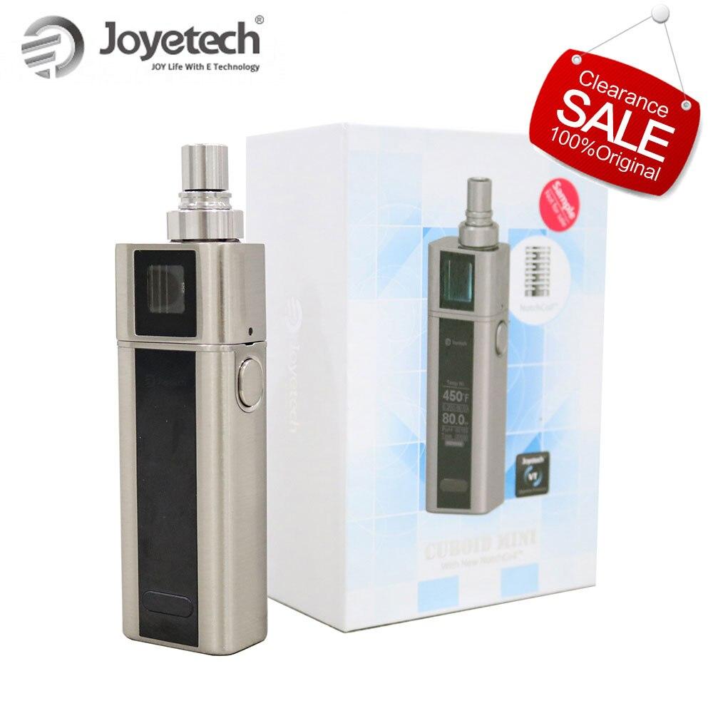 100 Оригинал Joyetech кубовидный мини комплект 2400 мАч встроенный аккумулятор 1 80 Вт Temp управление 50 мл бак BF SS316 спиральная электронная сигарета купить на AliExpress