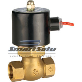 free shipping 1/2'' Uni-D Steam Solenoid Valve PTFE US-15 Solenoid Steam Valve Brass 2/2 Way N/C 2L170-15 1 2bspt 2position 2way nc hi temp brass steam solenoid valve ptfe pilot