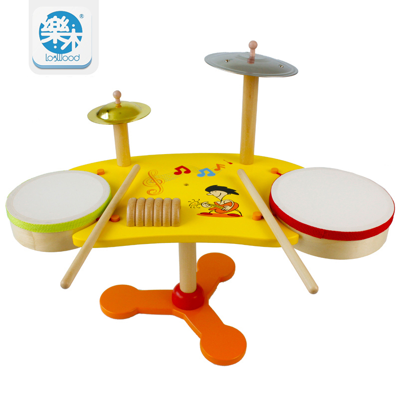 Drum Set Musical Instrument Wooden Educational Toy For Kids Birthday Gift Game Of Children Kids Toys kawo kids beats flash light toy drum set with adjustable sing along microphone