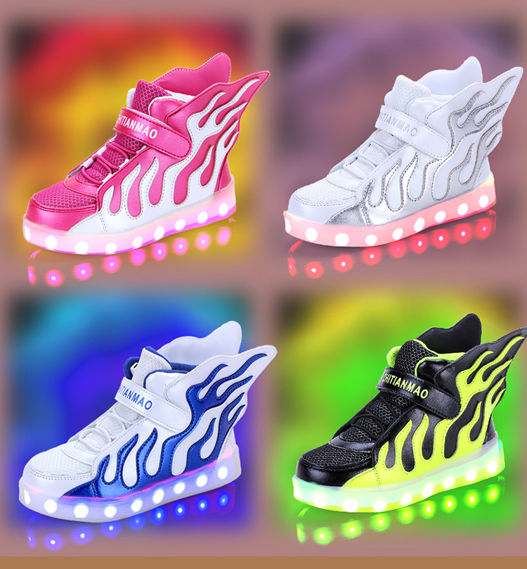 1bc0aa89d LED light Dance Sneakser Children unisex Party Shoes 25 37 EU size black  rose white green color boys girls outdoor-in Athletic Shoes from Mother   Kids  on ...