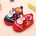 New baby shoes first walkers cotton vamp soft sole prewalker kids plush inside Shoes Newborn children warm winter shoes cartoon