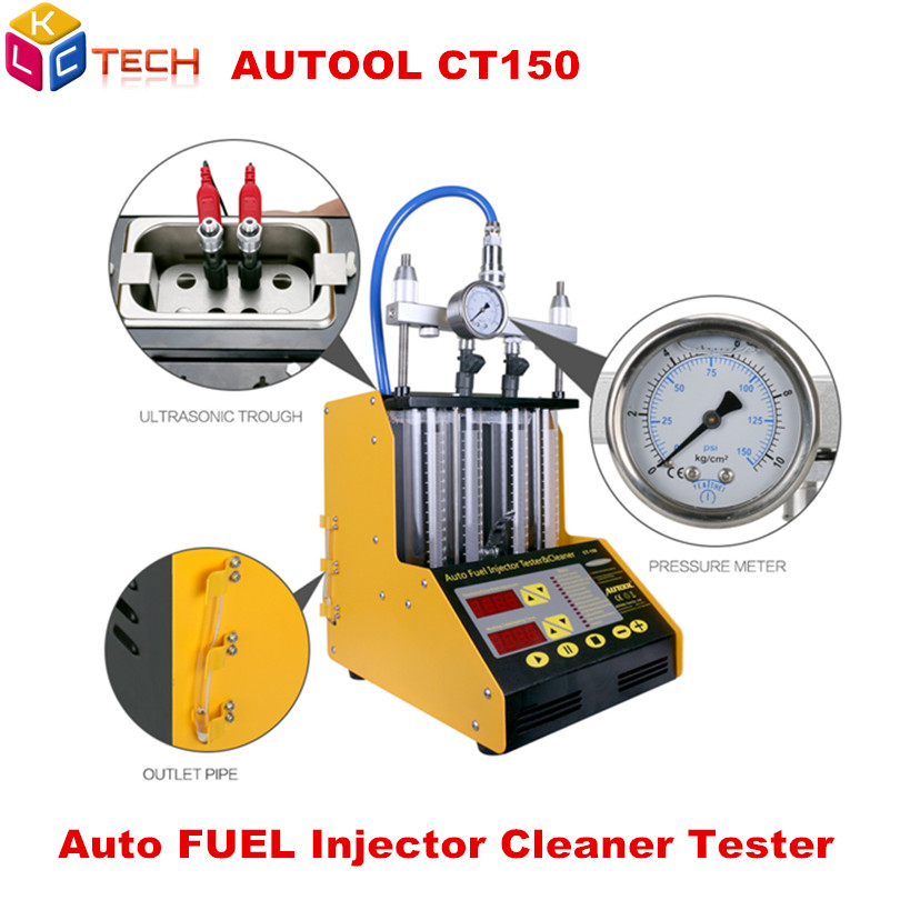 BestEquip/ CT200 Ultrasonic Fuel Injector Cleaner/&Tester Automotive Fuel Cleaning Tools for Car Motor 4-Cylinder/