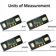 Цифровой угломер транспортир электронный уровень коробка 360 градусов Цифровой Инклинометр Угол измерительный инструмент с магнитами портативный
