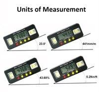 Цифровой угломер транспортир электронный уровень коробка 360 градусов Цифровой Инклинометр Угол измерительный инструмент с магнитами порт...