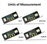 Buscador de ángulo Digital Protractor caja de nivel electrónico 360 grados digital inclinómetro herramienta de medición de ángulo con imanes portátil