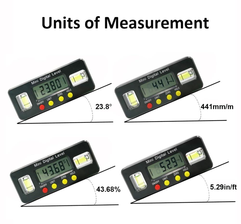 Das Beste Digitale Winkel Finder Winkelmesser Elektronische Ebene Box 360 Grad Digitale Neigungsmesser Winkel Messen Werkzeug Mit Magneten Tragbare
