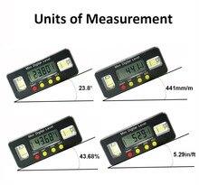 Rapporteur dangle numérique, boîte de niveau électronique, inclinomètre numérique de 360 degrés outil de mesure dangle avec aimants, Portable