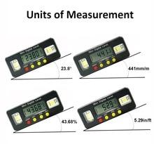 Digitale winkel finder Winkelmesser elektronische ebene box 360 Grad digitale neigungsmesser winkel messen werkzeug mit magneten Tragbare