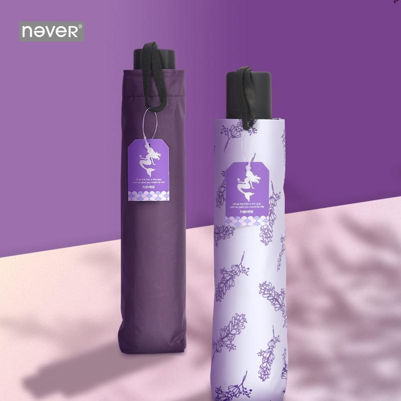 Image 2 - Never Mermaid Office Business Stationery Gift Set Teaches Gift Fashion Sunny and Rainy Umbrellas Women Ladies Sunscreen UmbrellaStationery Set   -
