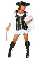 Hot Sale High Quality Women Sexy Pirate Costume Halloween Carnival Party Role Play Uniform Bar Costume and Hat