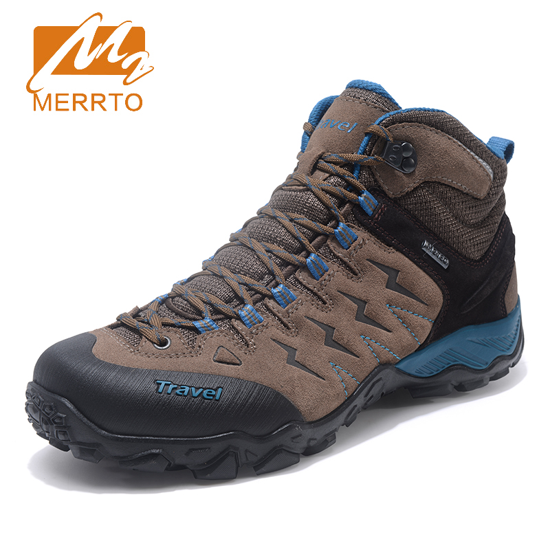 2017 Merrto Mens Breathable Hiking Shoes Warmth Outdoor Sports Shoes Non-slip Climbing Shoes For Men Free Shipping MT18683 new handmade hiking shoes for men climbing boots breathable and non slip cowhide outdoor sneakers free shipping