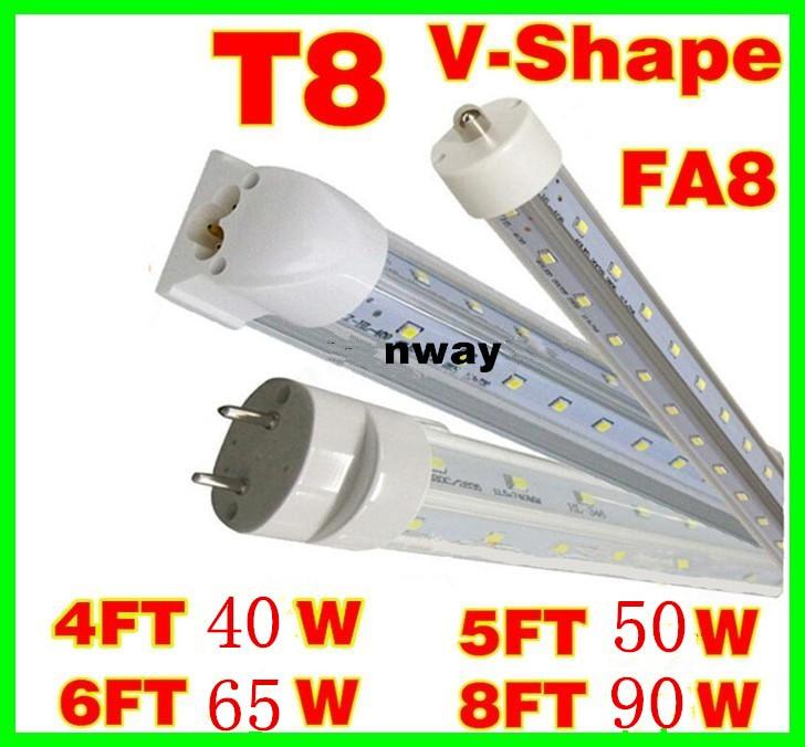 8 Ft 2 Lamp Fluorescent Strip Light White No Ssf2964wp 8ft: V Shaped 4ft 5ft 6ft 8ft Cooler Door Led Tubes T8