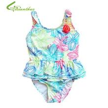 Traje de baño de las muchachas del traje de baño lindo de los cabritos floral impreso bikini más nuevo 2018 traje de baño de la muchacha del bebé piezas desgaste de la nadada para los niños