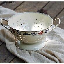 Прямая Европейская ретро корзина для фруктов гостиная креативные декоративные украшения Фруктовая тарелка круглая сливная корзина для белья корзина
