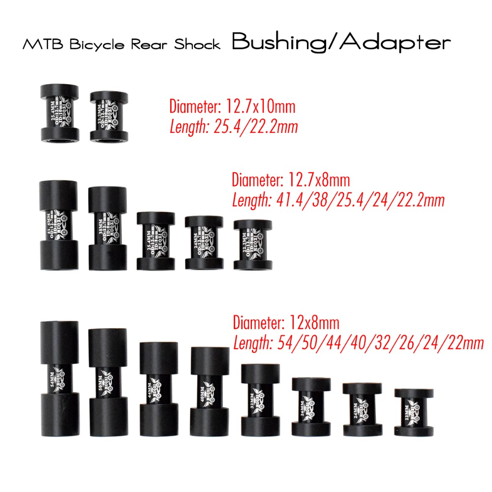 Aluminium Alloy DH Mountain Bicycle Rear Shocks Adapter 15 Sizes Downhill MTB Bike Rear Shock Absorber Bushing Bicycle Parts