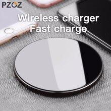 PZOZ Qi kablosuz şarj USB şarj aleti hızlı şarj telefon adaptörü için iphone X 8 artı Xs Samsung S9 S8 not 9 8 xiaomi mi mi x 2s