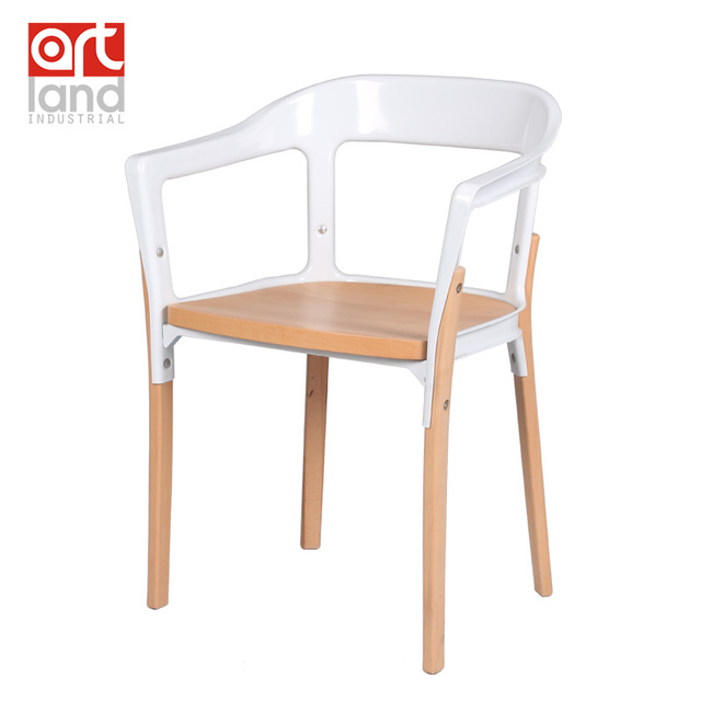 Minimalist Modern Designer,steel And Wood Chair,fashion Personality Casual  Dining Chair