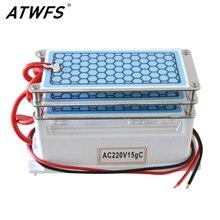 ATWFS генератор озона 220 В 15 г Ozono DIY очиститель воздуха озонатор очиститель воздуха домашний 3 слоя Озон машина озонатор стерилизация