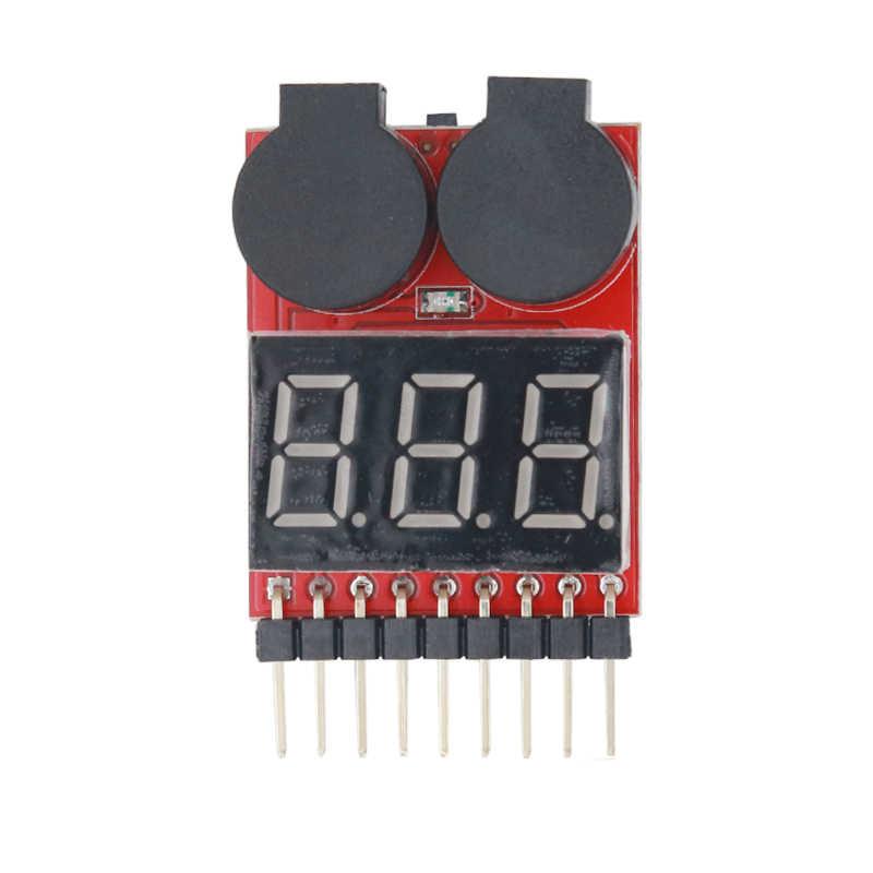 デジタル rc 電圧計モニターテスター 2 IN1 低ブザーアラーム 1 s-8 6s リポリチウムに fe ヘリコプターバッテリー 30% オフ