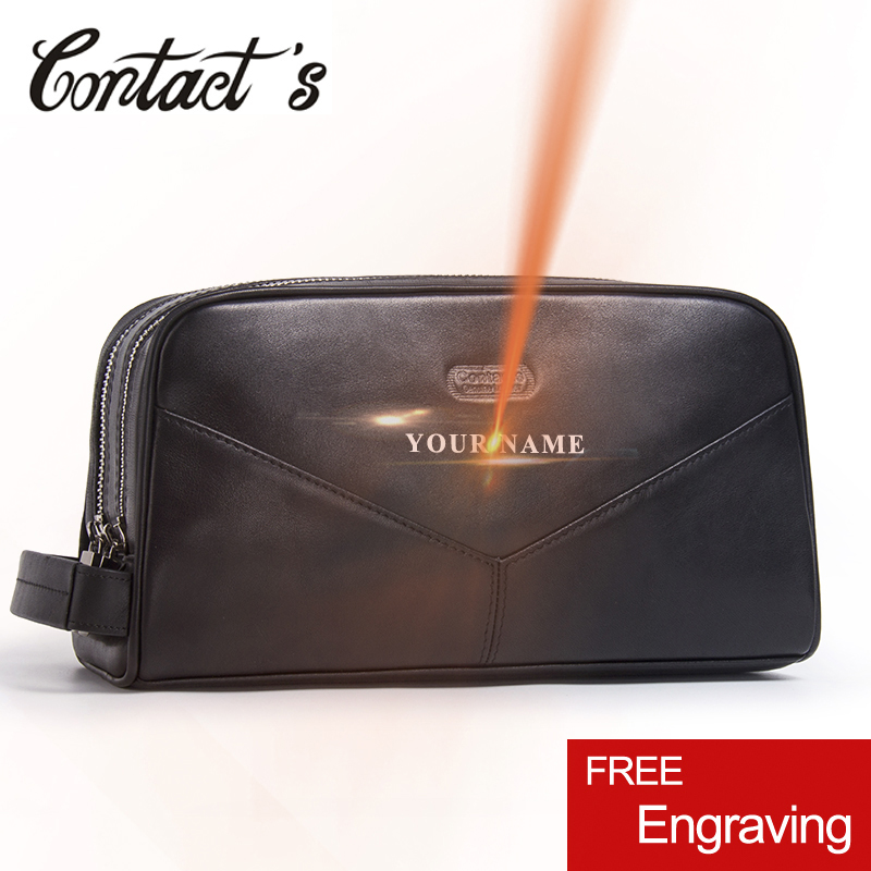 Casual Cosmetic Bag Women Travel Makeup Case Genuine Leather Toiletry Bag High Quality Zipper Man Travel